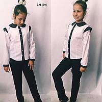 Блузка з коротким рукавом шкільна 721 (09)