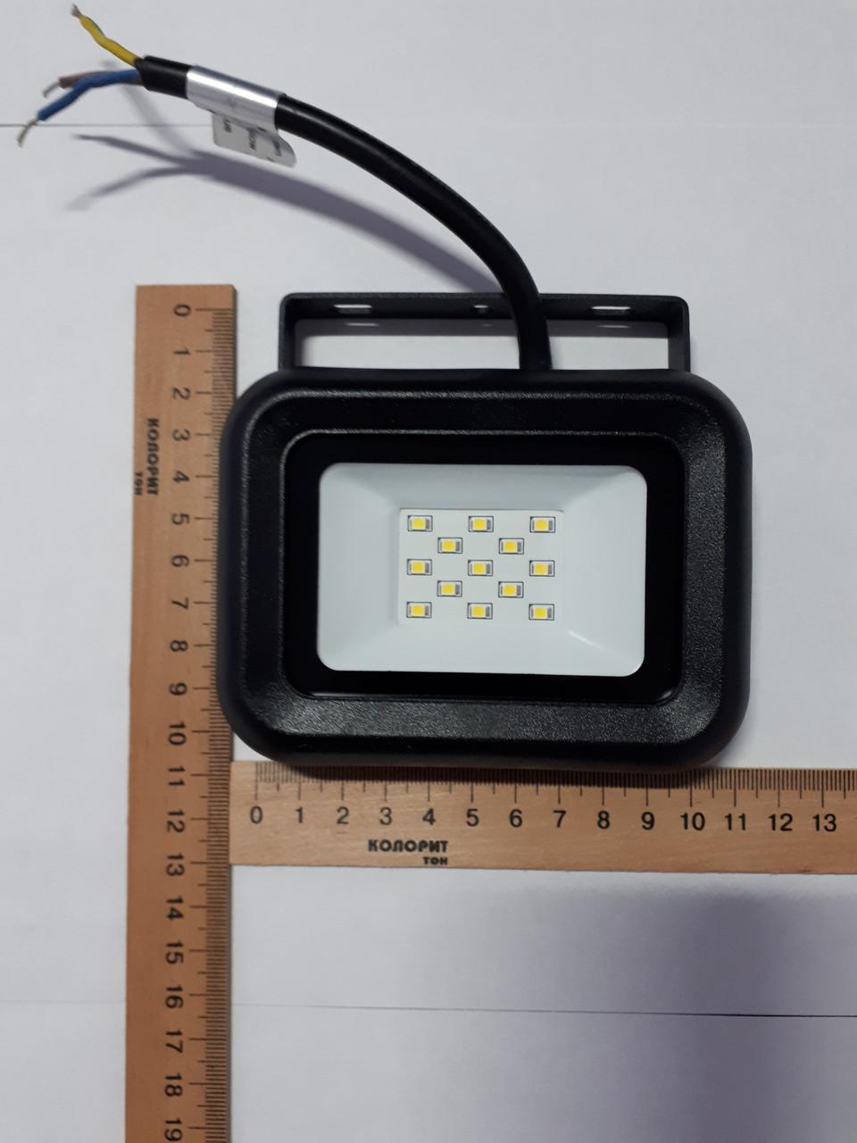 Прожектор светодиодный 10 Ватт черный
