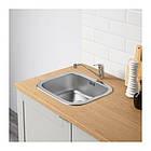 Напольный шкаф с ящиками и дверцами IKEA KNOXHULT 120 см серый светло-коричневый 503.267.94, фото 2