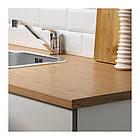 Напольный шкаф с ящиками и дверцами IKEA KNOXHULT 120 см серый светло-коричневый 503.267.94, фото 4