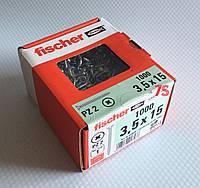 Fischer FSP-SZ 3,5X15 ZPF 1000 шт. - Шуруп для мебельных петель и направляющих, цинк белый