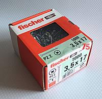 Fischer FSP-SZ 3,5X17 ZPF 1000 шт. - Шуруп для мебельных петель и направляющих, цинк белый