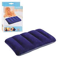 Подушка надувний INTEX 68672 синя