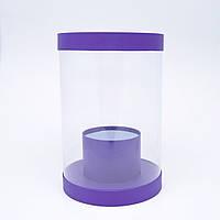 Круглая коробка из прозрачного пластика, фото 1