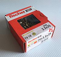 Fischer FTF-ST 3,5X35 YZP 200 шт. - Шуруп для паркету Фішер 3.5х35 мм, жовтий цинк