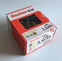 Fischer FTF-ST 3,5 x 45 YZP 200 шт. - Шуруп для паркету Фішер 3.5х45 мм, жовтий цинк
