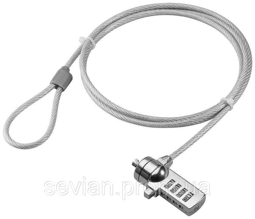 Замок безпеки ноутбука Security (Lock) Goobay CodeLock D=4.5mm L=1.5m Серебряный(75.09.3038)