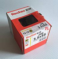 Fischer FTF-ST 3,5 x 55 YZP 200 шт. - Шуруп для паркету Фішер 3.5х55 мм, жовтий цинк