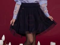Школьная фатиновая юбка Грация Suzie Размеры 122 - 134 Черный