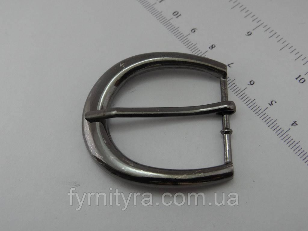 Пряжка металлическая 25 мм 2104, темный никель