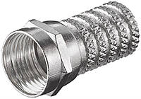 Конектор антенний FreeEnd-RF:F (конектор) Goobay /M нарізний D=6.0mm Zinc 10 шт (75.05.1852x10)