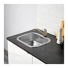Кухонный гарнитур IKEA KNOXHULT 220x61x220 см белый глянец черный 091.804.69, фото 3
