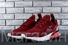 Женские кроссовки Nike Air Max 270 Найк Аир Макс 270 бордовые, фото 3