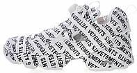 Женские кроссовки Reebok Instapump Fury Vetements White Рибок Инста Памп белые
