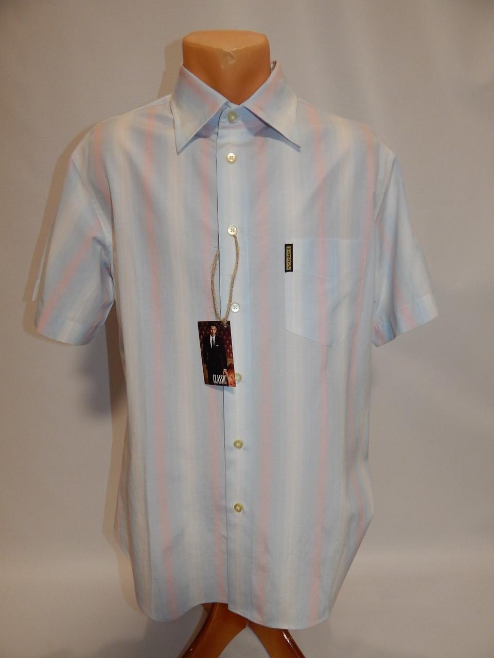 Мужская рубашка с коротким рукавом Armani Jeans (087КР) р.50