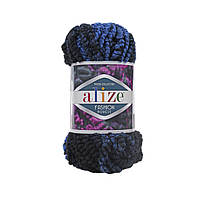 Пряжа Alize Fashion Boucle синий меланж