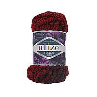 Пряжа Alize Fashion Boucle красный меланж