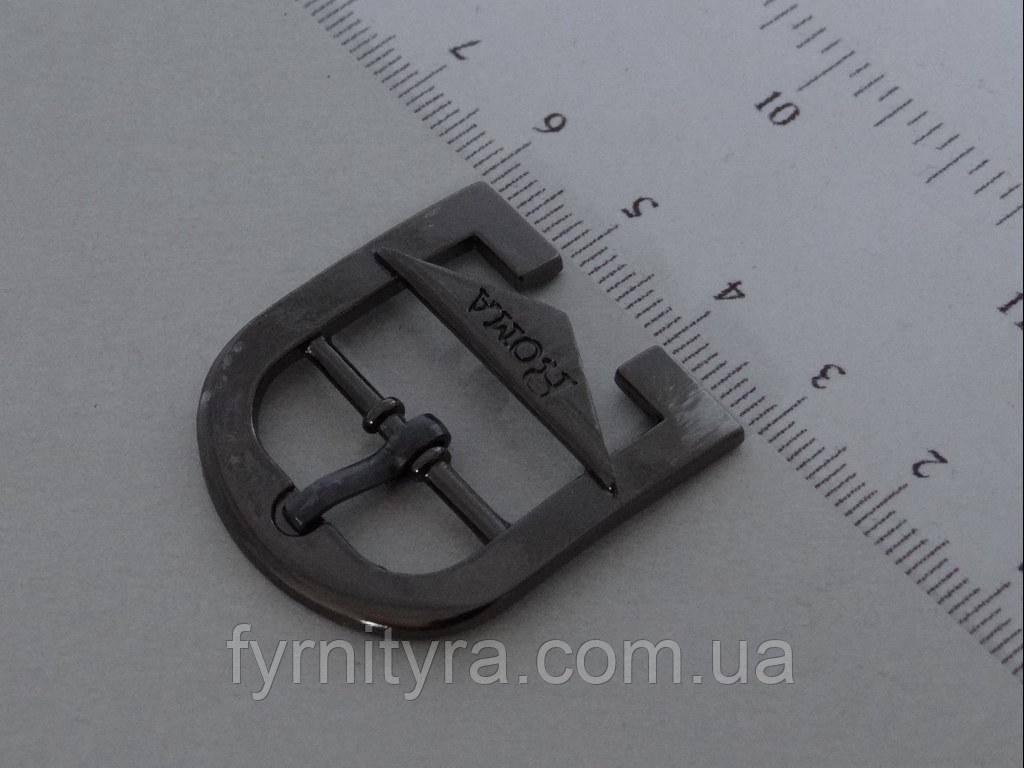 Пряжка металлическая 20 мм 4832,никель, темный никель