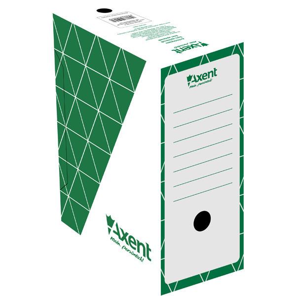 Бокс архівний 80мм, зелений, 1731-04-A