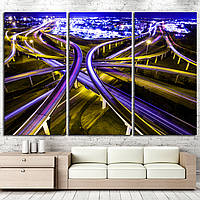 1063 transportation highway system in America. time lapse , long exposure , urban sprawl interstate and interc