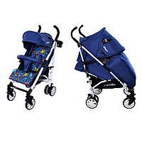 Детская коляска прогулочная трость Carrello Allegro синия