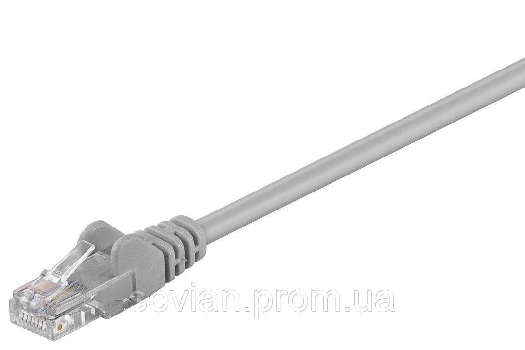 Купить Патч-корд неекранований RJ45 UTP5e 20.0m Goobay patch AWG28 D=4.5mm Gold Protect Серый(75.06.8362)