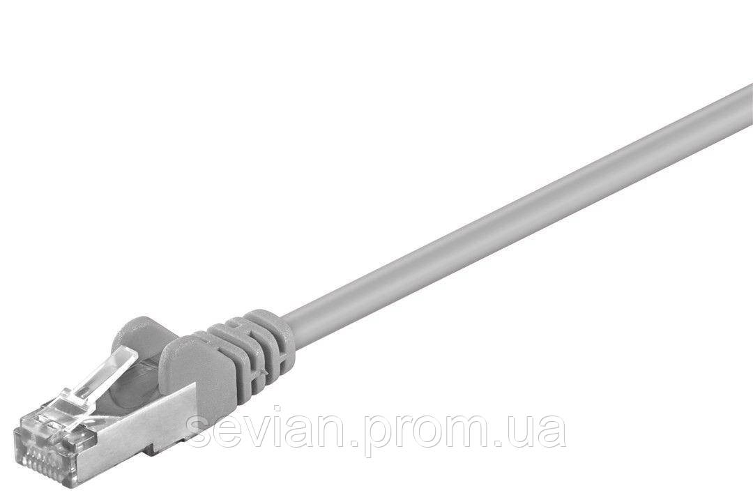 Купить Патч-корд екранований RJ45 SFTP5e 15.0m Goobay patch AWG26 D=5.5mm 2xS Protect Серый(75.05.0877)