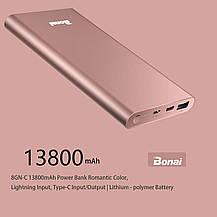 Power Bank Bonai 13800mAч портативный внешний аккумулятор с входом Type-C, фото 2