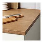 Кухонный гарнитур IKEA KNOXHULT 220x61x220 см белый светло-коричневый 491.804.67, фото 5