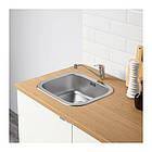 Кухонный гарнитур IKEA KNOXHULT 220x61x220 см белый светло-коричневый 491.804.67, фото 7