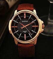 Мужские наручные часы Yazole 2018 MWO353-354 Brown Black