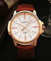 Мужские наручные часы Yazole 2018 MWO353-354 Brown White