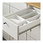 Кухонный гарнитур IKEA KNOXHULT 220x61x220 см серый светло-коричневый 791.804.37, фото 2