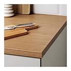 Кухонный гарнитур IKEA KNOXHULT 220x61x220 см серый светло-коричневый 791.804.37, фото 5