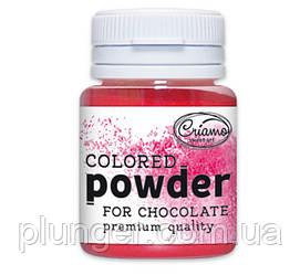 Кольоровий порошок для шоколаду Рожевий, 10г, Criamo