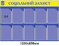 Стенд Социальная защита (желто-синий)