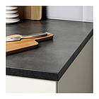 Кухонный гарнитур IKEA KNOXHULT 220x61x220 см белый глянец черный 691.804.71, фото 2