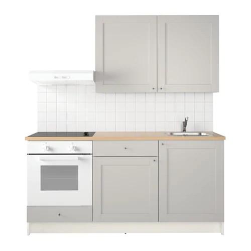 Кухонный гарнитур IKEA KNOXHULT 180x61x220 см серый светло-коричневый 791.804.42
