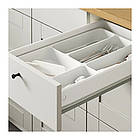 Кухонный гарнитур IKEA KNOXHULT 180x61x220 см серый светло-коричневый 791.804.42, фото 5
