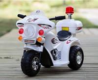Эл-мобиль детскийТ-723 WHITE, Мотоцикл аккумуляторный 6V4.5AH мотор 1*15W, Электромобиль