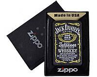 Зажигалка бензиновая Zippo Jack Daniels в подарочной упаковке