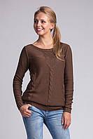 Вязанный женский коричневый джемпер