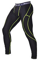 Компрессионные штаны BERSERK Legacy yellow neon black