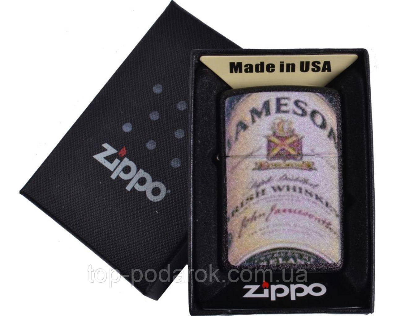 Зажигалка бензиновая Zippo JAMESON в подарочной упаковке