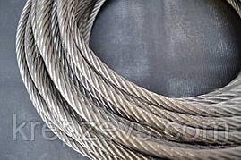 Трос нержавіючий Ф1мм, плетіння 7х7 (м'який)