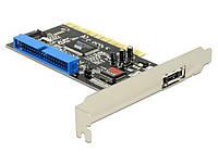 Перехідник накопичувача PCI-SATA 7p Delock +eSATA +IDE RAID 0/1/0+1/JBOD(70.07.0156xA)