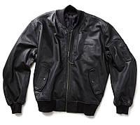 Кожаная куртка Boeing MA-1 Leather Flight Jacket (черная)