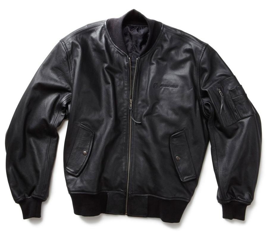 Кожаная куртка Boeing MA-1 Leather Flight Jacket (черная) - Магазин Alpha  Industries 69f6cd4ec4b