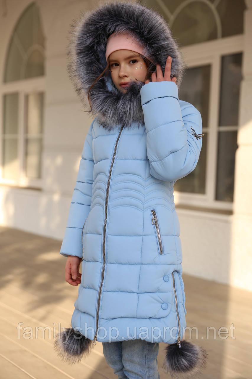 Зимнее пальто с капюшоном на девочку Кина нью вери (Nui Very)