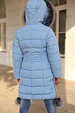 Зимнее пальто с капюшоном на девочку Кина нью вери (Nui Very), фото 2